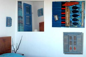 Chambre d'hôtel sur l'île des Saintes redécorée par Pascal Foy